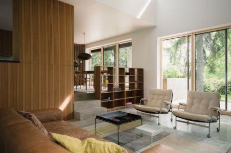 cuisine et séjour - Torsby III par Max Holst Arkitekt - Stockholm, Suède