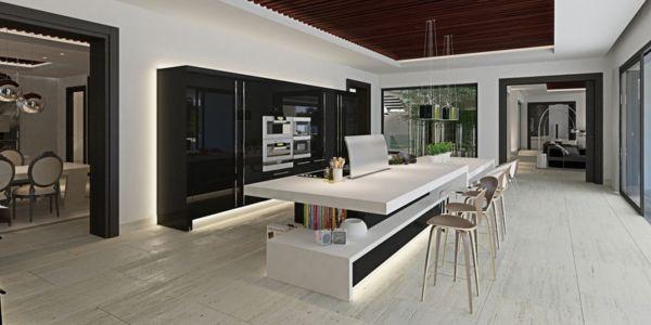 cuisine - luxueuse villa par Ark Architects - San Roque, Espagne