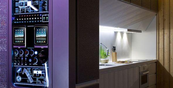cuisine & module système domotique - Spaceship Home par Noem Spaceship - Madrid, Espagne