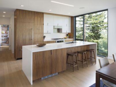 cuisine - résidence d'été par Shands Studio Architects - San Anselmo, Usa