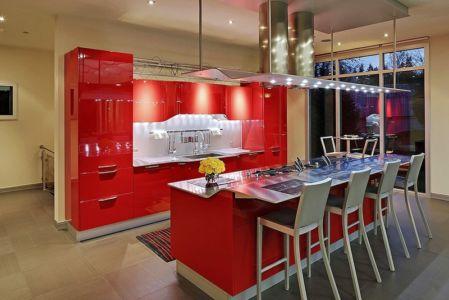 cuisine rouge Ferrari - West Bellevue House - Washington, USA