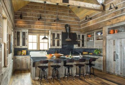 cuisine rustique - Rocky Mountain retraite par Beck Building Company - Aspen Springs, Usa