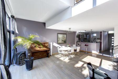 cuisine - séjour - Maisons jumelées par MAG architectes - France - photo Stéphano Candito