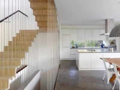 cuisine & séjour - Single-family-house par Christian von Düring architecte, Suisse