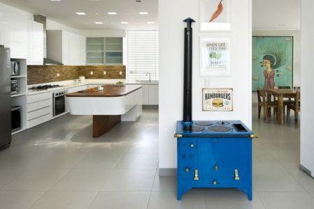 cuisine & séjour - casa-v par Estudio 6 Arquitectos - Perou