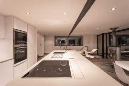 cuisine & séjour - chalet-dag par Chevalier Architectes - Chamonix, France