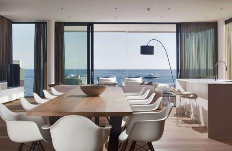 cuisine-séjour & vue panoramique sur mer - House Sperone par Studio Metrocubo - Novigrad, Croatie