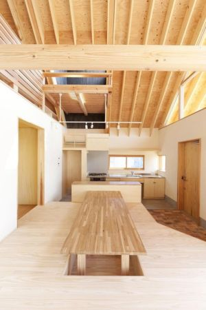 cuisine & salle séjour - Gabled-Roof par Tailored Design Lab - Kawagoe, Japon
