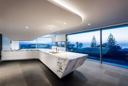 cuisine - uneTrigg-Residence par Hiliam Architects - Trigg WA, Australie