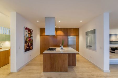cuisine - villa contemporaine par Adrián Noboa Arquitecto, Malecon Las Colinas, Pérou