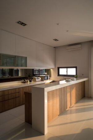 îlot central cuisine  - d-s-house par DP+HS architects - jakarta, Indonesie