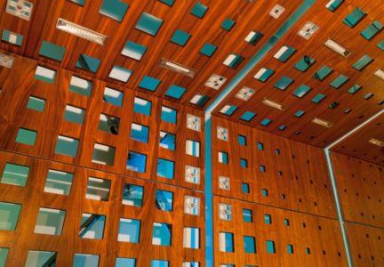 déco claustra  - Flute house par The Think Shop Architects - Royal Oak , Usa