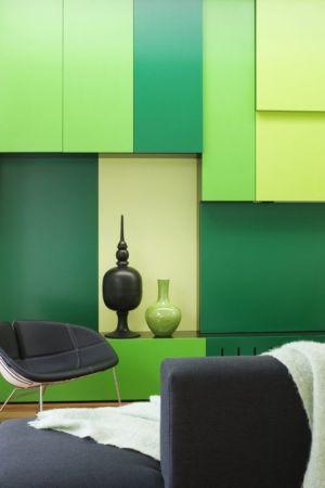 déco couleur design verte - white cube par Matt Gibson Architecture - Melbourne, Australie