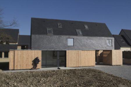 déplacement brise soleil - Maison ossature bois par Atelier 56S - France - Photo Jeremías Gonzalez