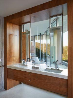 double lavabos - Chatauqua Residence par Studio William Hefner - Californie, Usa