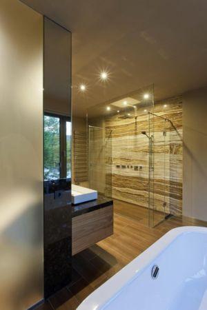 douche salle de bains - Reviving Mies par Architéma - Buda Hills, Hongrie