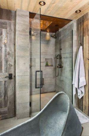 douche salle de bains - Rocky Mountain retraite par Beck Building Company - Aspen Springs, Usa