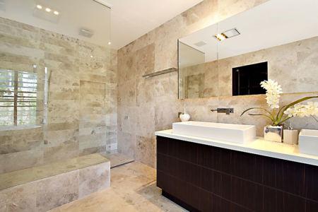 douche salle de bains - Treetops Residence par Artas Architects & D Pearce Constructions - Toowong, Australie