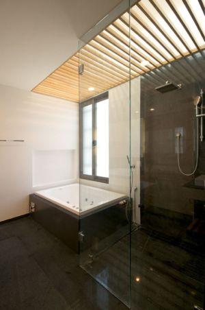 douche salle de bains - V-House par Agraz Arquitectos - Puerta Plata, Mexique