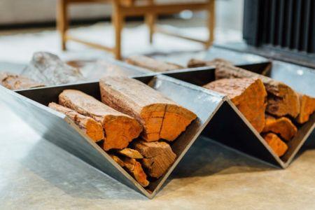 emplacement bois cheminée - Invermar House par Moloney Architects - Ballarat, Australie