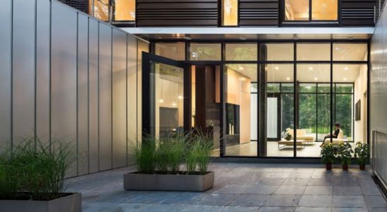 entrée - Bridge House par Höweler + Yoon Architecture - McLean, Usa