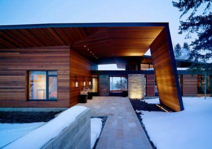 entrée - Butte Residence par Carney Logan Burke Architects - Jackson, Usa