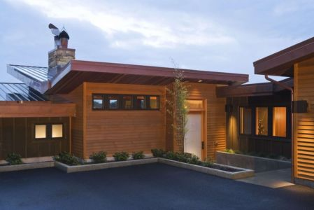 entrée - Devil's Lake Home par Nathan Good Architects - Lincoln , United States