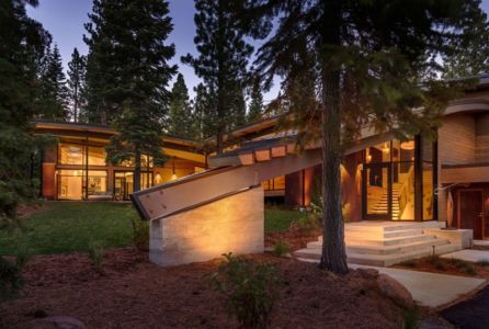 entrée - Flight House in Martis Camp par Sage Architecture - Truckee, Usa