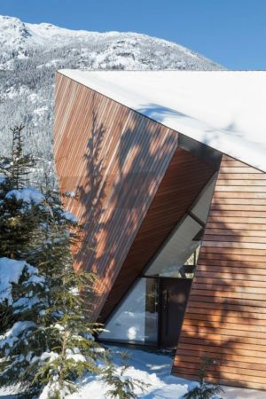 entrée - Hadaway house par Patkau architects - Whistler valley, Canada