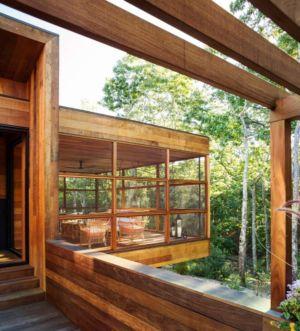 entrée - Hamptons Home In The Woods par Rangr Studio - Southampton, New York, Usa