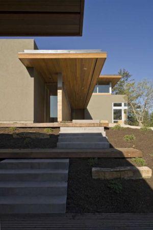 entrée - HudsonPanos Residence par Swatt & Miers Architects - Healdsburg, Usa