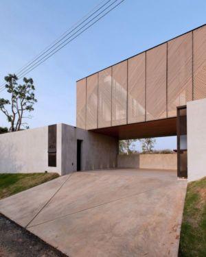 entrée - KA-House par IDIN Architects - Pak Chong, Thaïlande