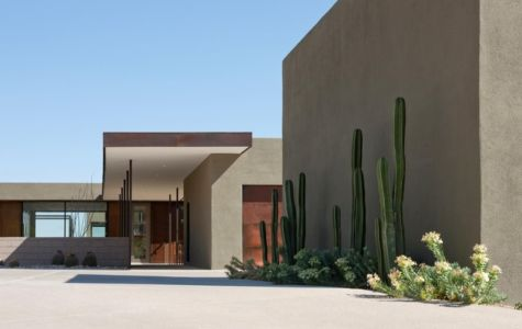 entrée - Levin Residence par Ibarra Rosano Design Architects - Marana, Usa