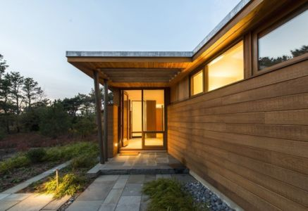 entrée - Long Dune Residence par Hammer Architects - Truro, Usa