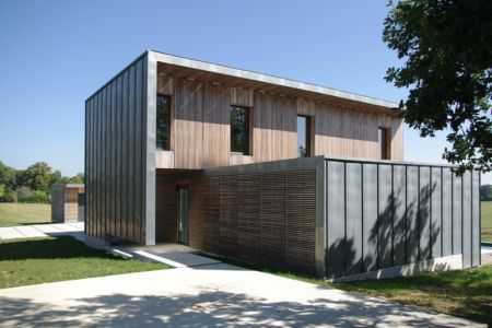 entrée - Maison l'Estelle par François Primault architecte - Moirax, France