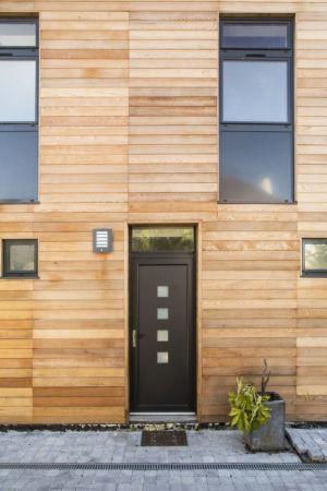 entrée - Maisons jumelées par MAG architectes - France - photo Stéphano Candito