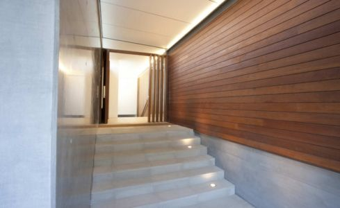 entrée - Mosman house par Popov Bass Architects - Sydney,Australie - photo Kraig Carlstrom