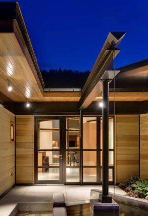 entrée - River Bank house par Balance Associates Architects - Big Sky, Montana, Usa