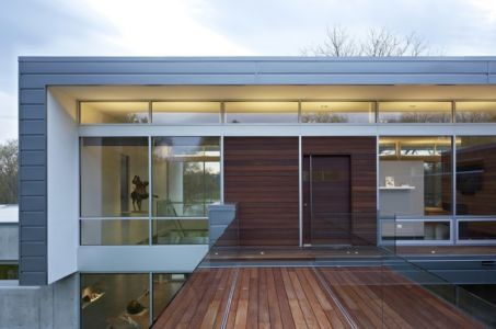 entrée - Riverview House  Studio Dwell Architects -  Wayne, Usa