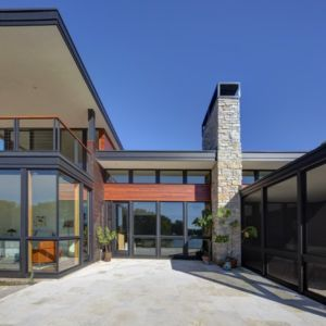 entrée - Rock River House par Bruns Architecture - Rockton, Usa