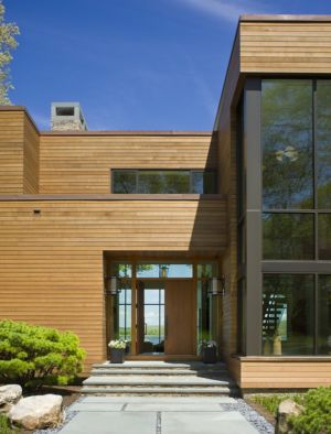 entrée - Secluded contemporary home par Point One Architects - Essex, Usa