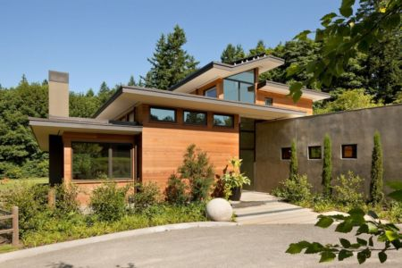 entrée - Skyline Residence par Nathan Good Architects - Portland, Usa