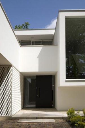 entrée - Villa contemporaine par Clijsters Architectuur Studio - Bilthoven, Pays-Bas