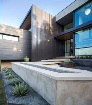 entrée - Waterfall-House par Dick Clark + Associates. - Austin, Usa