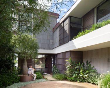 entrée - Waterfront House par Luigi Rosselli Architects - Sydney, Australie