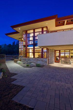 entrée de nuit - Hinshaw par Michael Rust – Architect LLC - Prescott, Usa