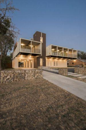 entrée de nuit - PV14 House par M Gooden Design - Dallas, Usa