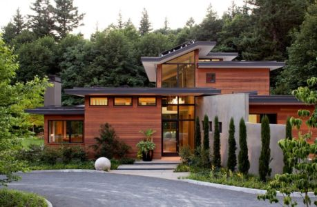 entrée de nuit - Skyline Residence par Nathan Good Architects - Portland, Usa