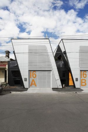 entrée garage - Hunter Street Home par ODR Architects - Australie