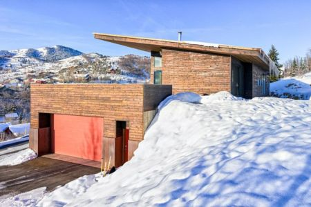 entrée garage - wood-clad-home par ParkCity Design - Utah, USA
